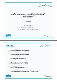 Anforderungen des Energiestadt®- Prozesses Inhalte - www ...
