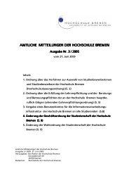 Amtliche Mitteilungen 3-2005 - Hochschule Bremen