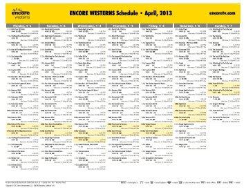 ENCORE WESTERNS Schedule - April, 2013 - Starz