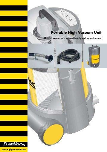 Portable High Vacuum Unit - Plymovent