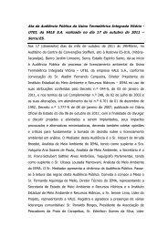 UTEI Vitória Audiência Pública realizada em Serra no dia 17 de ...