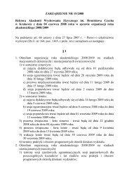 1 ZARZĄDZENIE NR - Akademia Wychowania Fizycznego w Krakowie