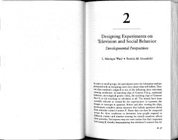 .- Designing Experiments on - Greenfield Laboratory for Culture and ...