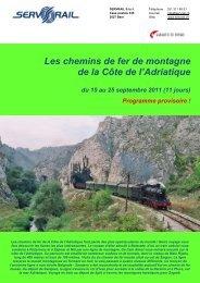 Les chemins de fer de montagne de la Côte de l'Adriatique - SERVRail