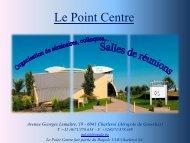 brochure de présentation du Point Centre