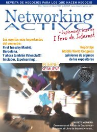 I Foro de Internet - Networking Activo