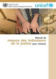 Manuel de mesure des indicateurs de la justice pour mineurs
