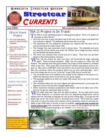 Streetcar Currents - July 2005 Web - Minnesota Streetcar Museum