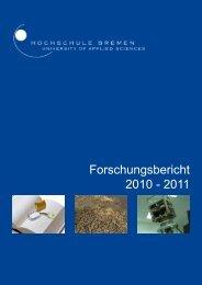 Forschungsbericht 2010 - 2011 - Hochschule Bremen