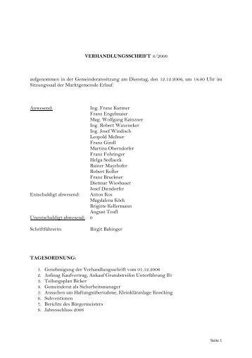 Gemeinderatssitzung 12. 12. 2006 (62 KB) - .PDF