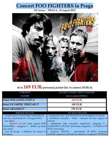 Concert FOO FIGHTERS la Praga - Activ Tours ERP