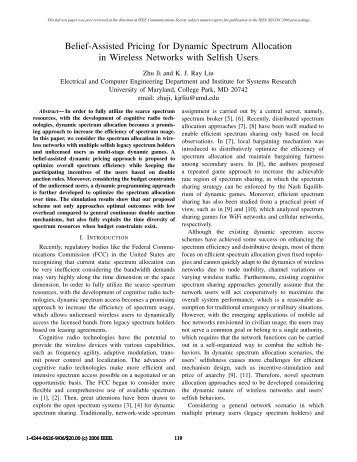 Belief-Assisted Pricing for Dynamic Spectrum Allocation in Wireless ...