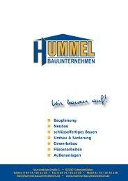 Umbau & Sanierung - Hummel Bauunternehmen