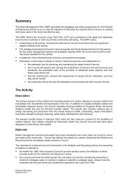 Rubbish and Recycling Asset Managment Plan Summary
