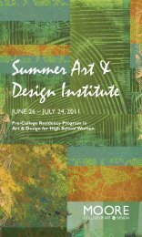 June 26 – July 24, 2011 - Moore College of Art and Design