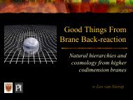 Good Things From Brane Back-reaction - Scalars 2011