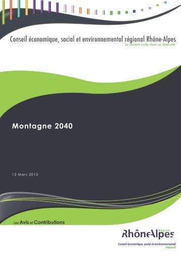 Montagne 2040 - Institut de la Montagne