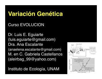Variación Genética - Instituto de Ecología
