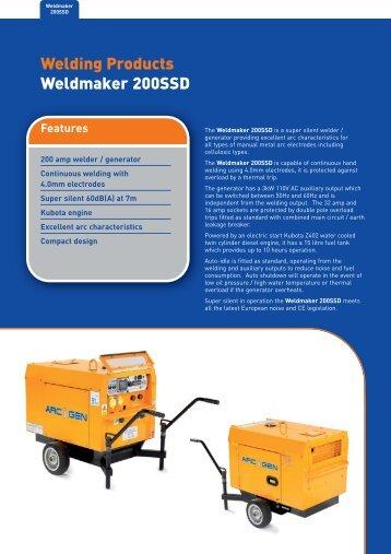 Welding Products Weldmaker 200SSD - Welding Generators