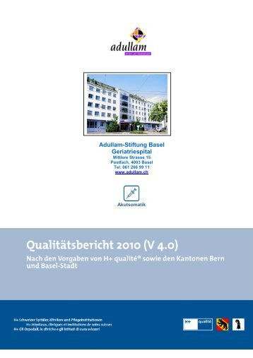 Adullam-Stiftung Basel Geriatriespital - Spitalinformation.ch