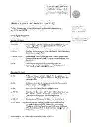 Programm & Information - Heidelberg Alumni International