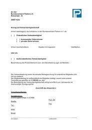 Mitgliedschaftsantrag (pdf) - Bundesverband Parken e.V.