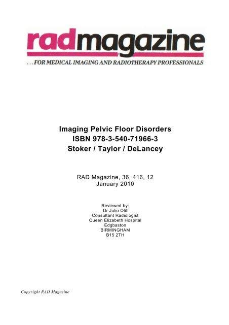 Imaging Pelvic Floor Disorders ISBN 978
