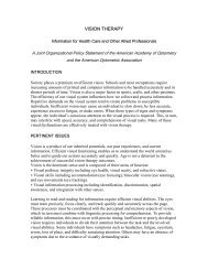 Complete article - PDF version - What is Vision therapy?