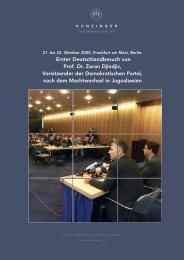 Erster Deutschlandbesuch von Prof. Dr. Zoran ... - Moritz Hunzinger