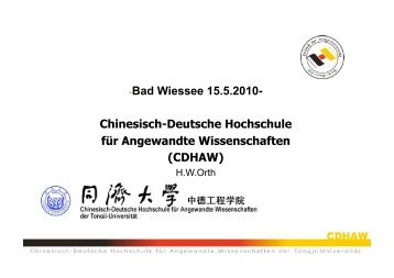 Chinesisch-Deutsche Hochschule für Angewandte Wissenschaften