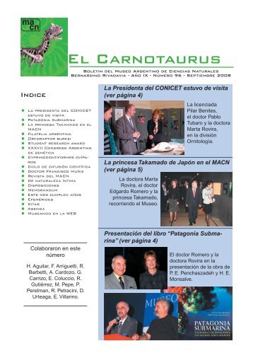 Carnotaurus Septiembre 2008-4.indd - Museo Argentino de ...