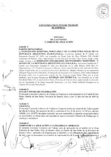 Articulo 2: LUGAR Y FECHA DE CELEBRACION El ... - Laboralis