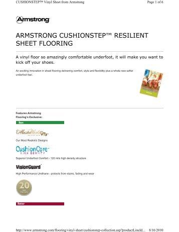 armstrong cushionstep™ resilient sheet flooring - Kier Construction ...