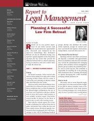 Planning A Successful Law Firm Retreat - Altman Weil