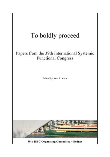 the ISFC39 Proceedings - International Systemic-Functional ...