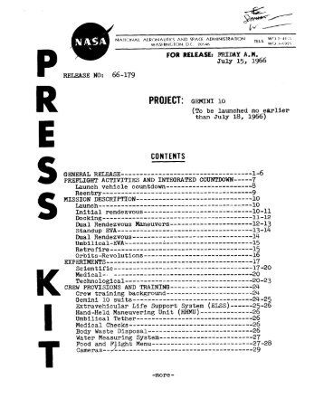 Gemini 10 Press Kit - heroicrelics Mirror