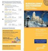 Folder Winter zum Downloaden - Salzburgs Burgen und Schlösser