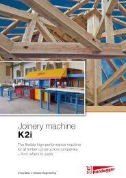 Joinery machine K2 i - Hundegger Maschinenbau Gmbh