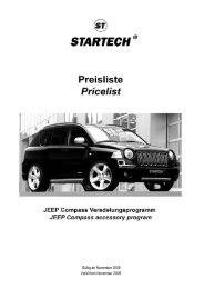 Preisliste JEEP Compass - Lenartowicz