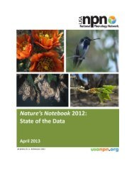 Nature's Notebook 2012: State of the Data - USA National ...