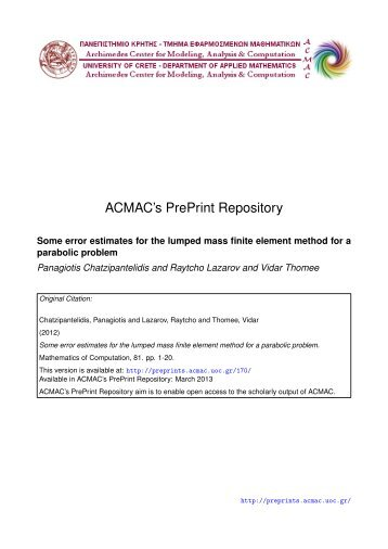 Download (485Kb) - ACMAC's PrePrint Repository