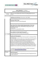 Klima und Konsum, Klasse 7 - Eine Welt Netz NRW
