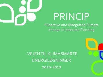 I. Status og potentiale - Energi PRINCIPS