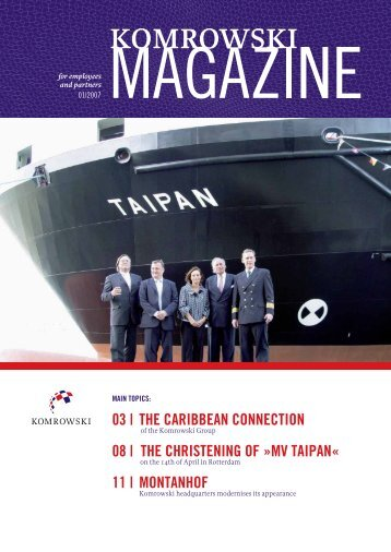 the christening of »mv taipan - Komrowski Global