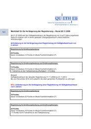 Merkblatt für die Verlängerung der Registrierung ... - Quetheb