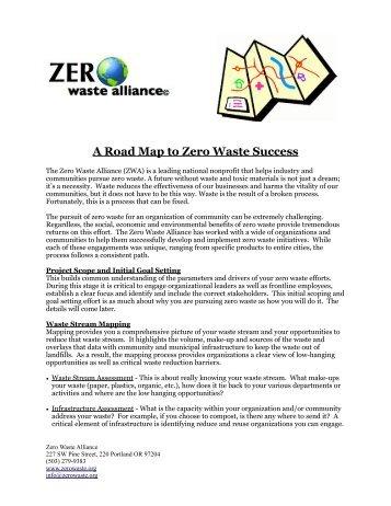 ZWA Zero Waste Road Map - the Zero Waste Alliance