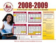 Forest Lake Area Schools Calendar