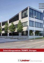Entwicklungszentrum TRUMPF, Ditzingen - Lindner Group