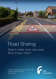Road sharing - does it matter what road users think of each other?
