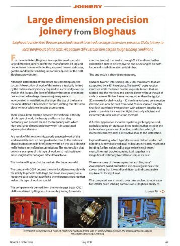 Large dimension precision joinery from Bloghaus - Hundegger ...